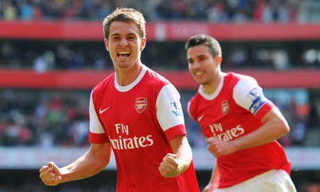 Aaron Ramsey and Robin Van Persie