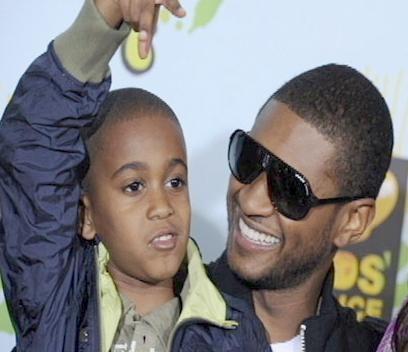 Usher Raymond and his stepson Kile Glover