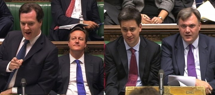 Miliband Osborne Cameron Balls