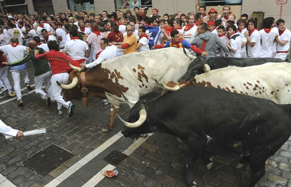 Pamplona - running of the bulls