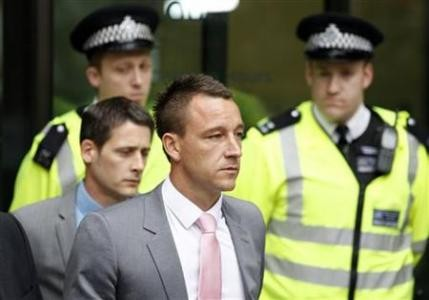 John Terry appears in court  charged with racially abusing QPR defender Anton Ferdinand (Reuters)