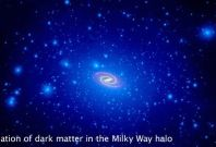 Computer simulations show a swarm of dark matter clumps