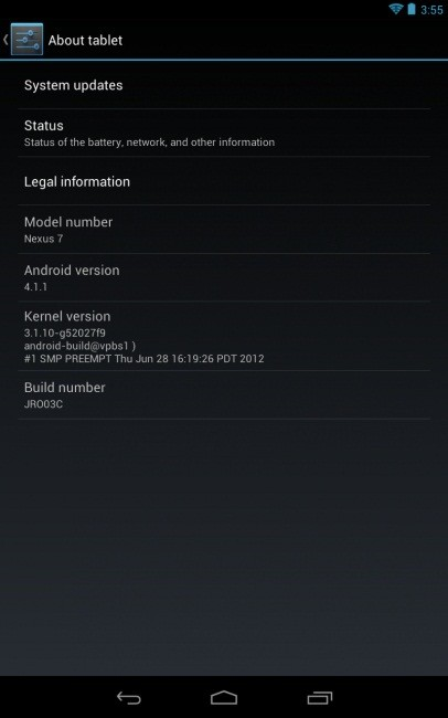 Google's Nexus 7 has been the first tablet to run on Android 4.1 (Jelly Bean) operating system. Most interestingly, the tablet has received its first Over-The-Air (OTA) software update.