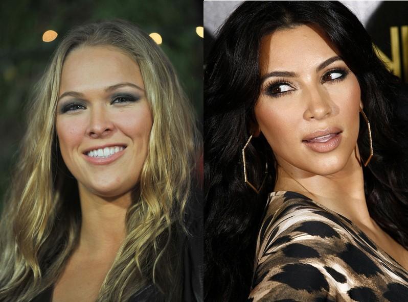 Ronda Rousey and Kim Kardashian