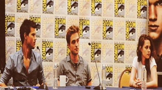 Kristen Stewart and Robert Pattinson at Comic-Con 2012