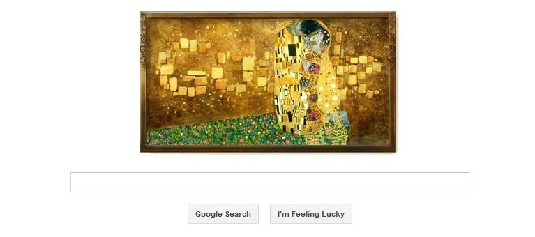 Google Doodle Celebrates Gustav Klimt's 150th Birth Anniversary