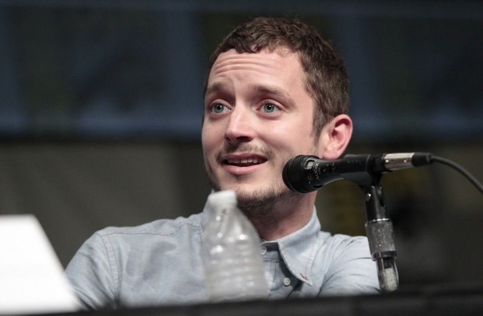 "Elijah Wood speaks during a panel for ""The Hobbit: An Unexpected Journey"" during Comic Con International convention in San Diego"
