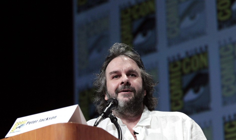 "Peter Jackson speaks during a panel for ""The Hobbit: An Unexpected Journey"" during Comic Con International convention in San Diego"