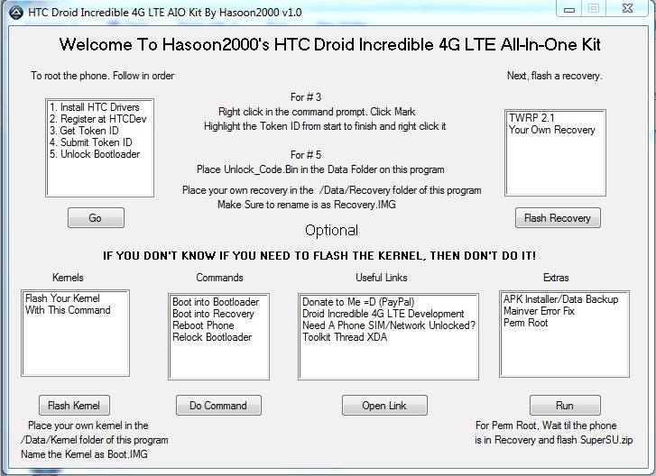 How to Install All-in-One Toolkit for HTC Droid Incredible 4G LTE [VIDEO & TUTORIAL]