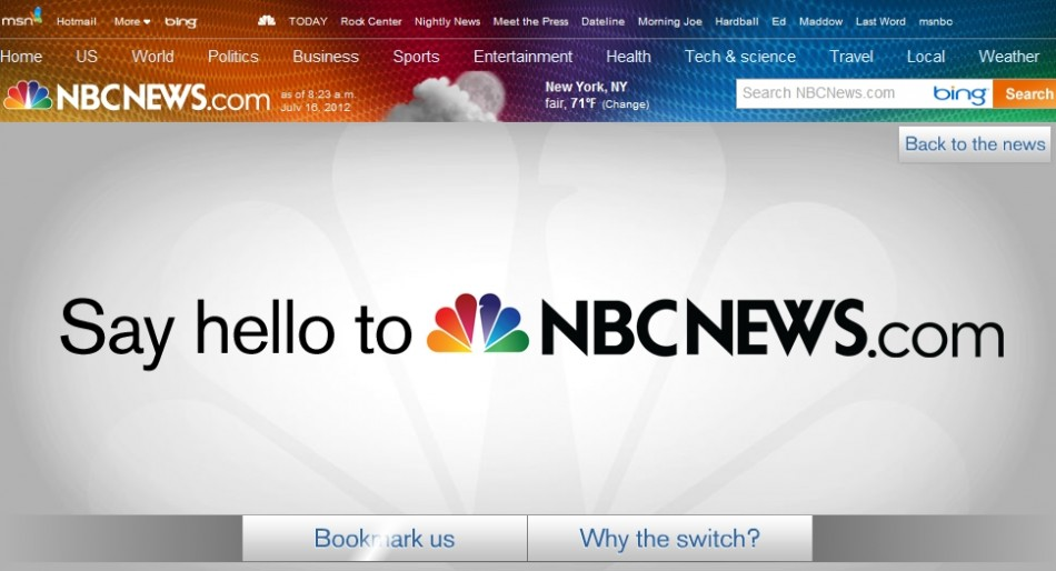 msnbc becomes nbcnews as Microsoft pulls out and Comcast buys back shares