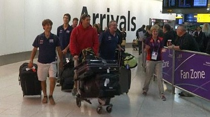 Athletes arrive Olympics