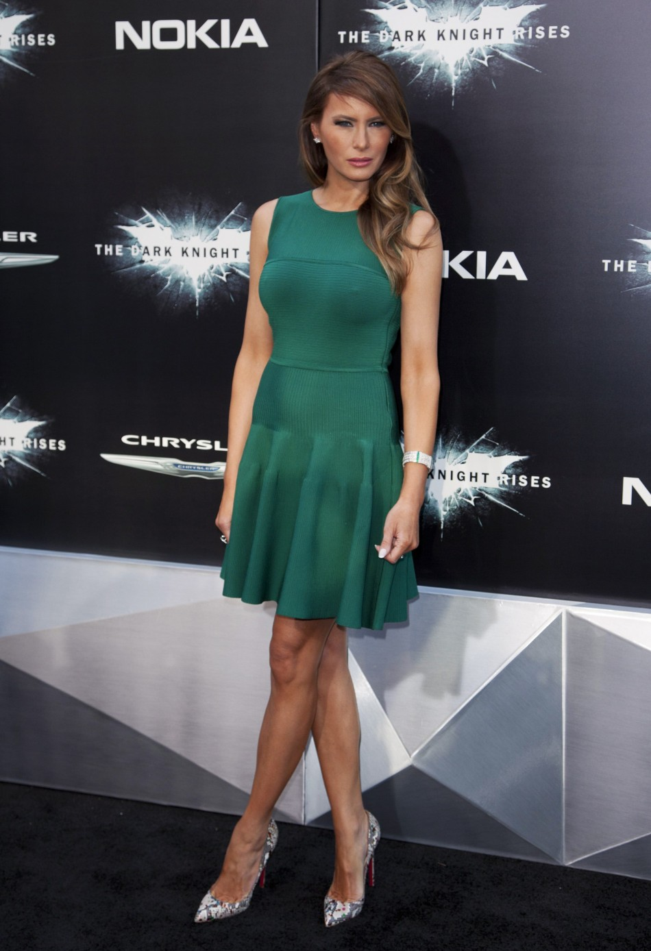 Melania Trump attends the world premiere of the movie quotThe Dark Knight Risesquot in New York