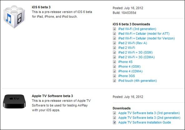 Apple Has Released iOS 6 Beta 3