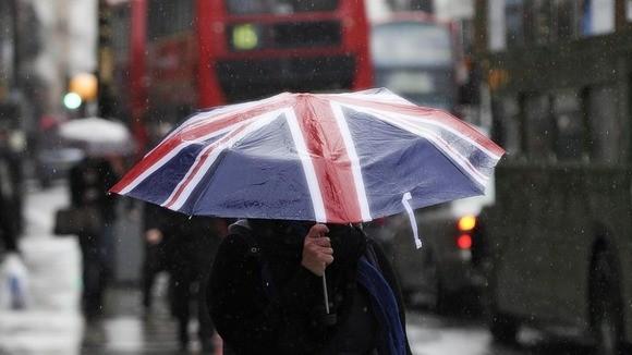 UK high street rain