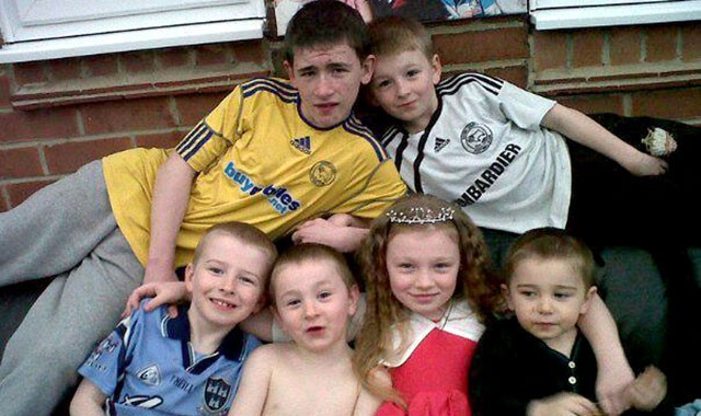 The six Philpott children who died from fire at their home in Derby (Facebook)