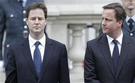 Public confidence in the unity of the coalition Government has fallen since last year (Reuters)
