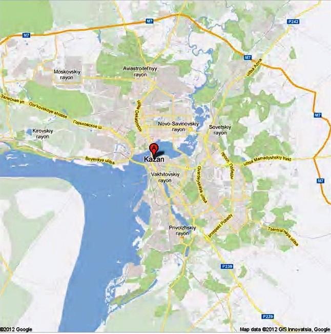 Kazan, the capital of Tatarstan