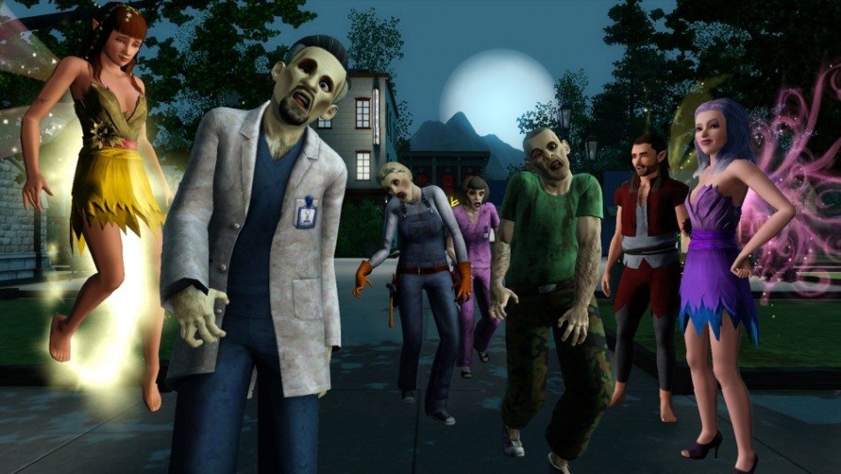 Sims 3 Supernatural Expansion Pack including witches, werewolves, fairies, vampires and zombies