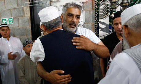 Tariq Jahan, 46, was praised  over his call for an end to the violence just hours after the murder of his son (Reuters)