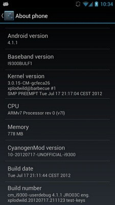 Android 4.1 Jelly Bean with CyanogenMod 10 for Samsung Galaxy S3 [How to install]