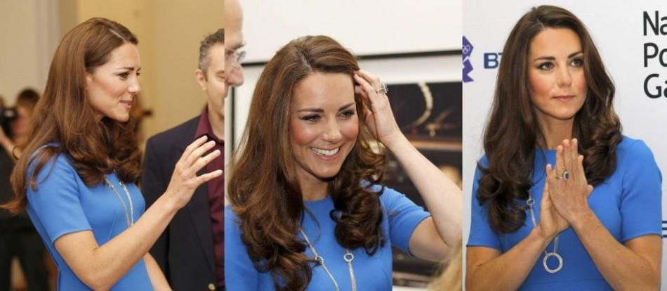 Kate Middleton in Blue Dress