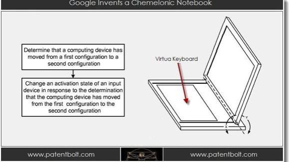 Google Nexus Hybrid Laptop-Tablet Patent