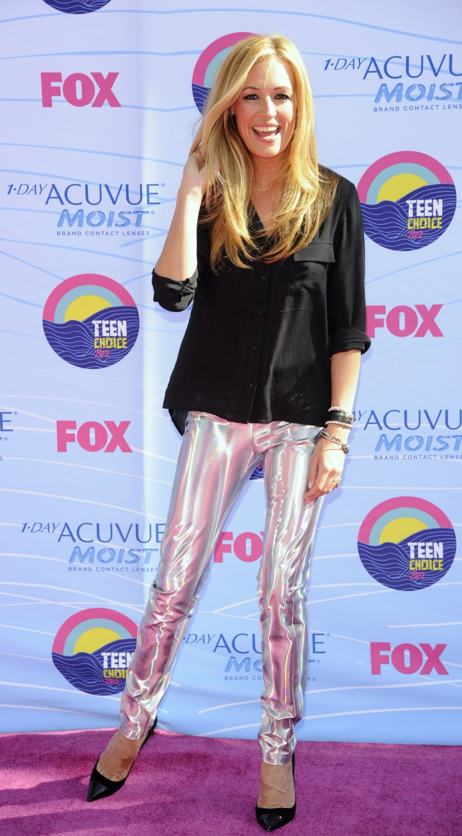 TV presenter Cat Deeley arrives for the 2012 Teen Choice Awards in Los Angeles
