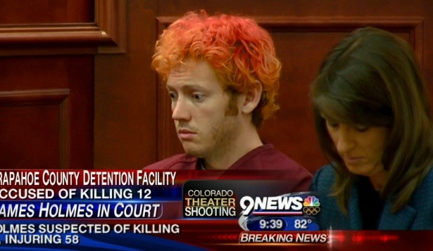 James Holmes has made his first appearance in court (9 News)