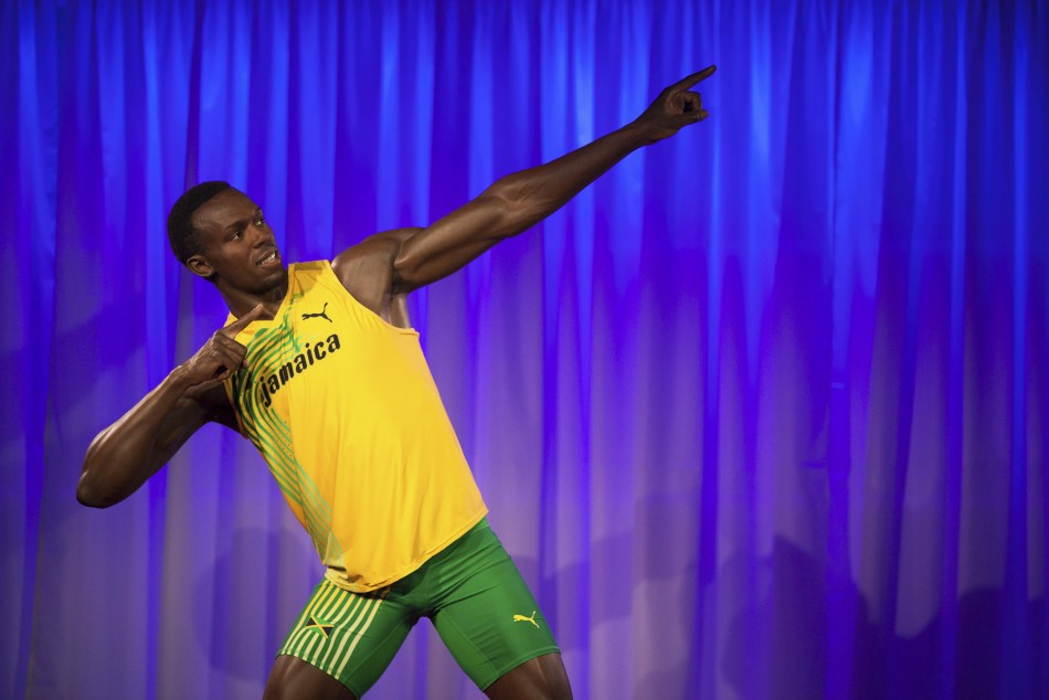 A wax statue of Usian Bolt was unveiled on at Madame Tussauds in London days before the start of the Olympics (Reuters)