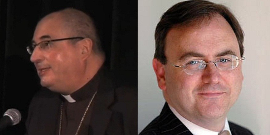 Archbishop of Glasgow Philip Tartaglia (L) and David Cairns MP who died in May of acute pancreatiti