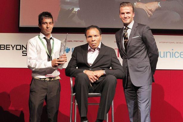 Mohammad Ali and David Beckham