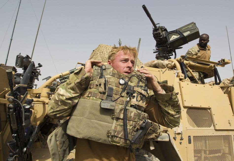 British soldier in Afghanistan