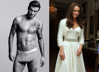 David Beckham and Kate Middleton