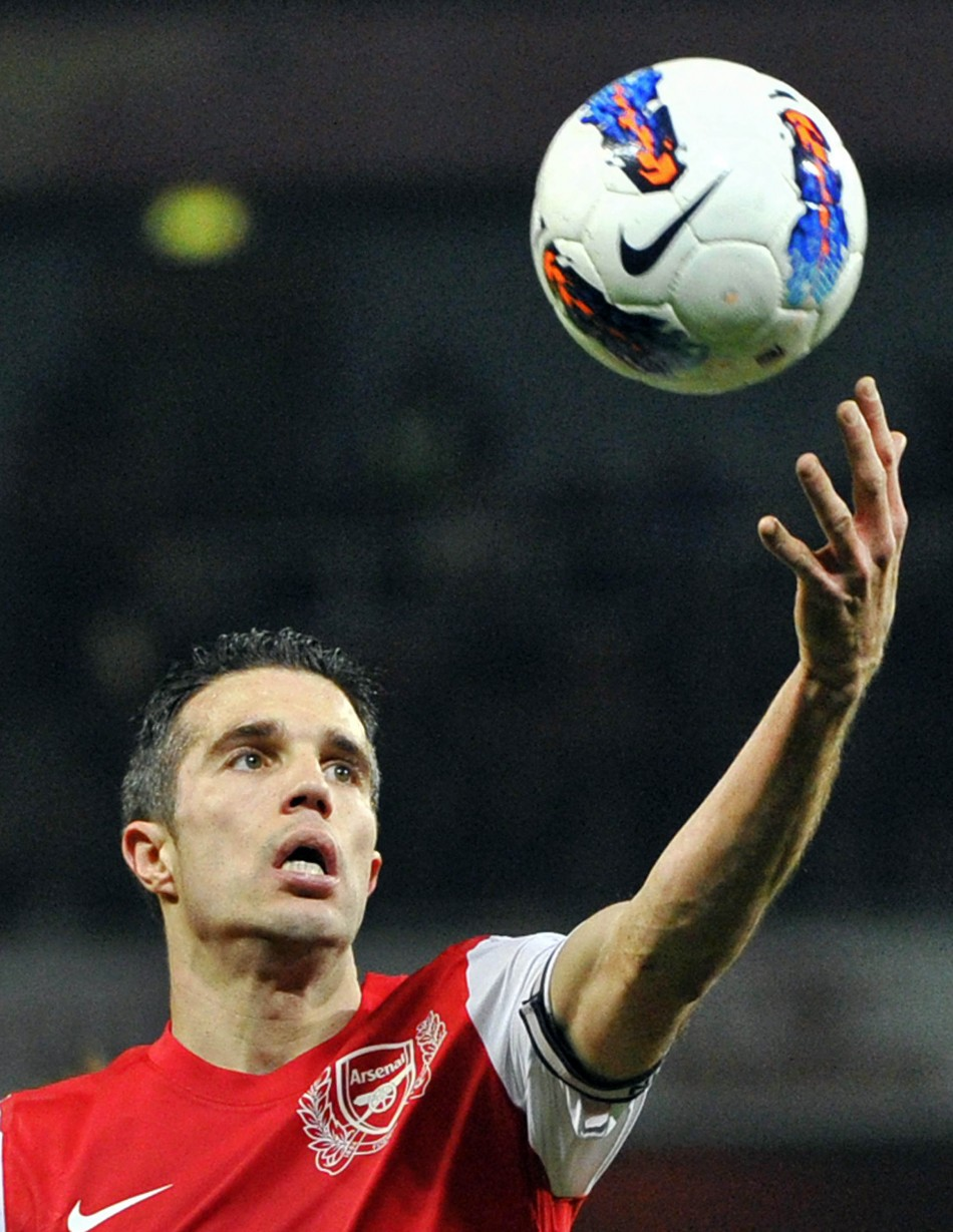 Arsenal striker Robin van Persie