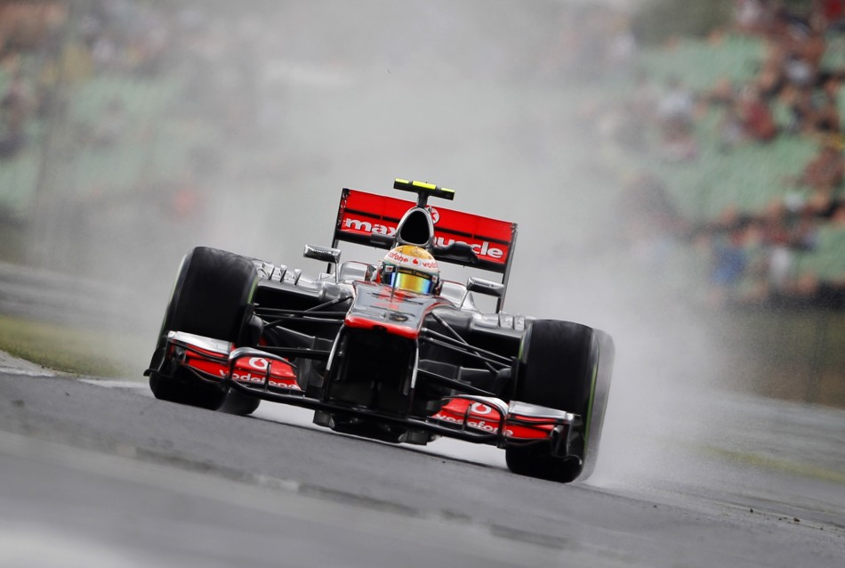 McLaren's Lewis Hamilton is on pole