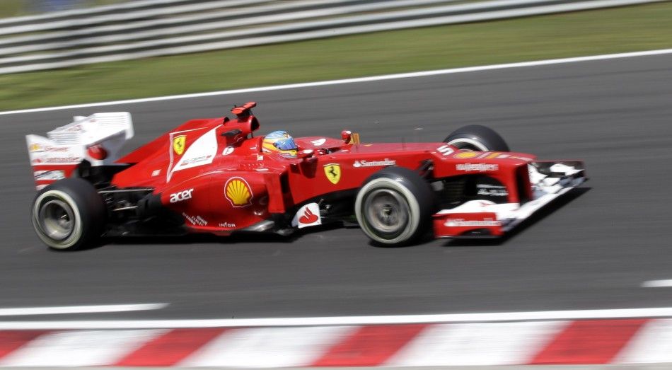 The Ferraris of Fernando Alonso and Felipe Massa will start the 2012 Formula 1 Hungarian Grand Prix sixth and seventh