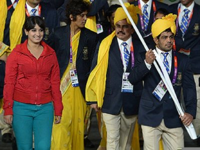 Mystery Woman at the Indian Contingent