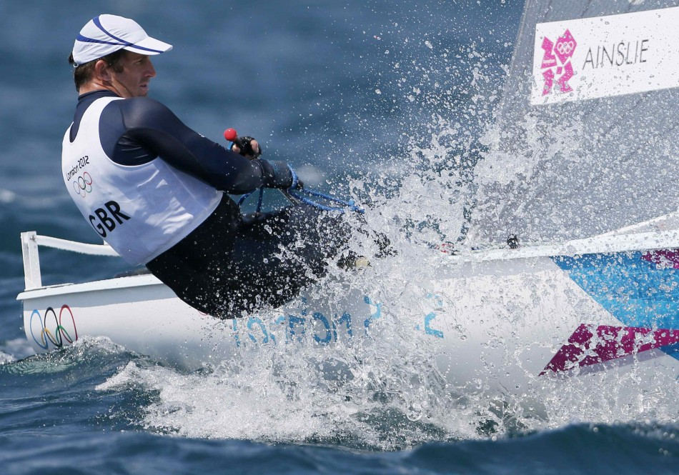 Team GB's Ben Ainslie is Second after Race 1 of Men's Finn Sailing Event