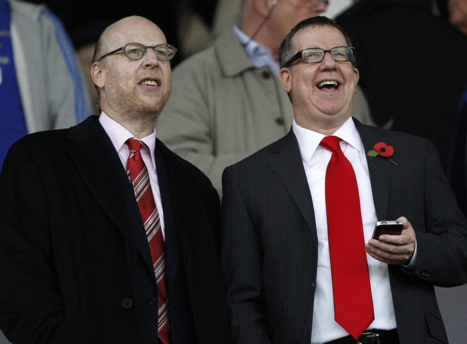 Manchester United Board Members Avram and Brian Glazer (R)