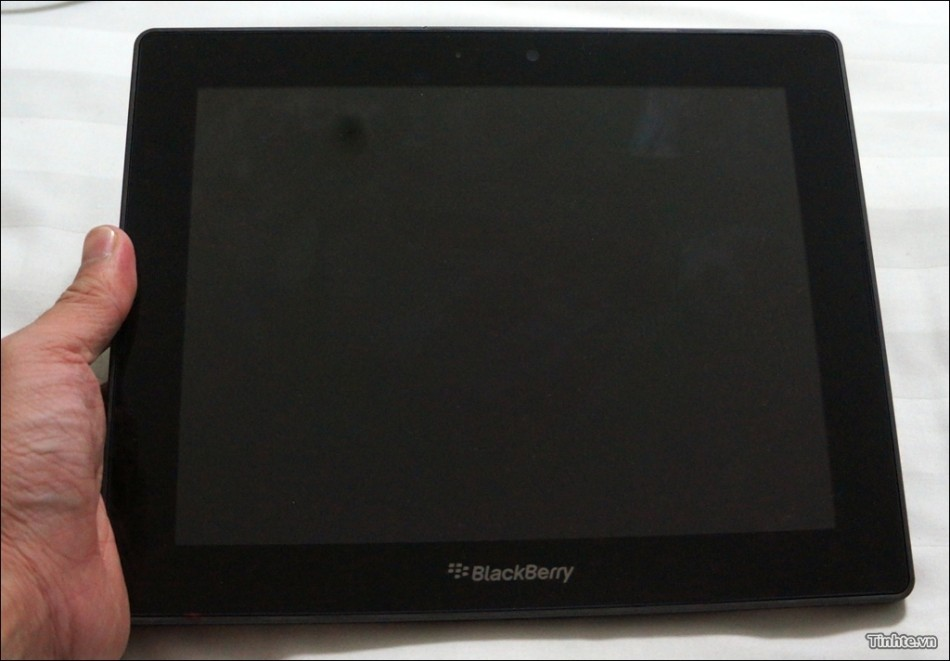 10in Blackberry Playbook 4G tablet PC hand
