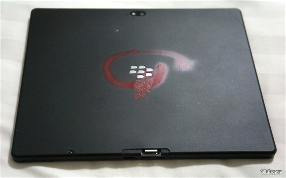 10in Blackberry Playbook 4G tablet red swirl