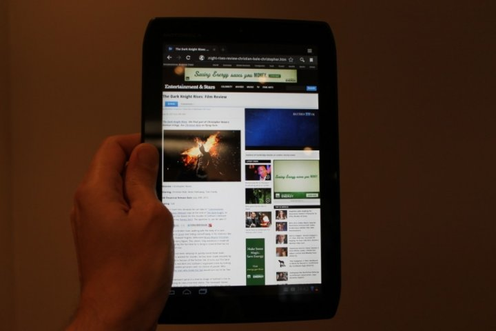 Motorola Xoom 2 Media Edition Android Tablet Review hand