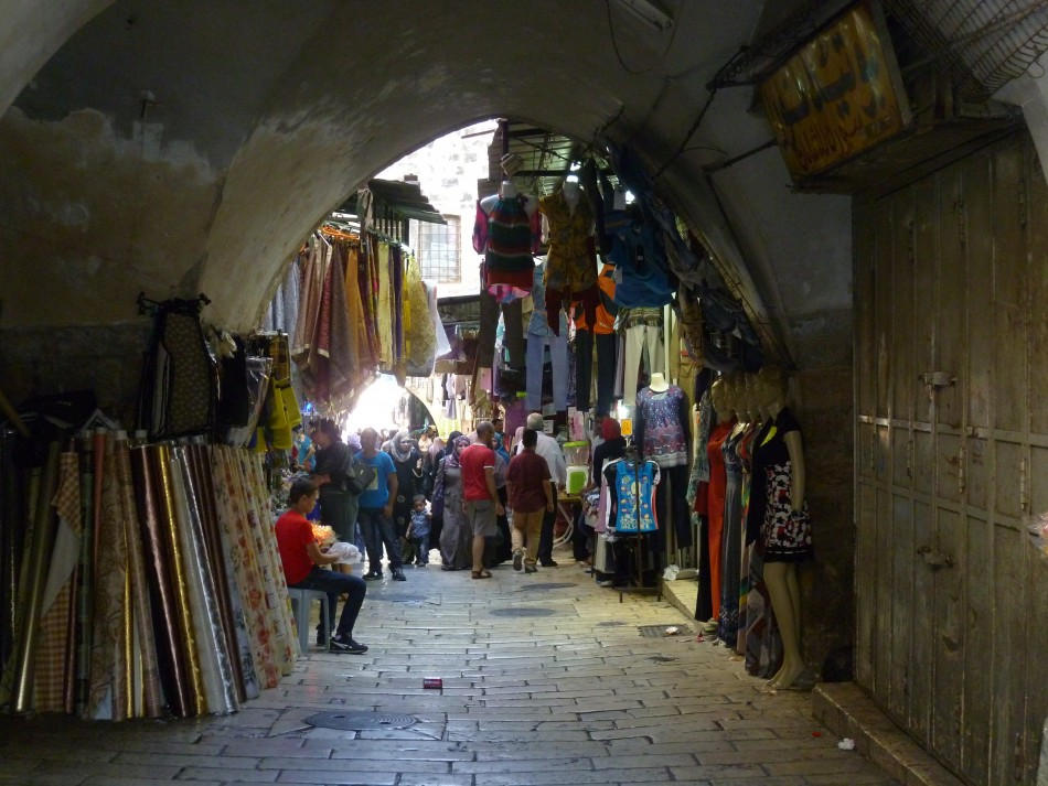 View of the souk in the Old City of Jerusalem