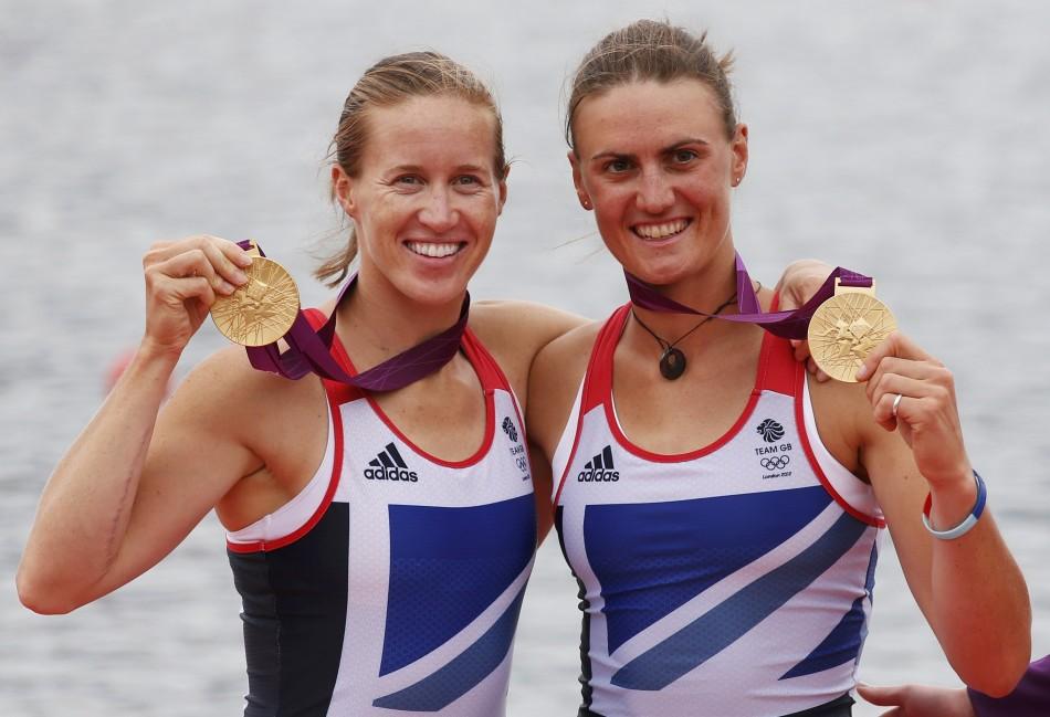 Helen Glover and heather stanning gold