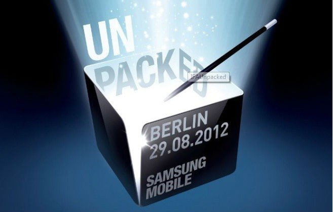 Samsung Confirms Galaxy Note 2 Announcement on 29 August