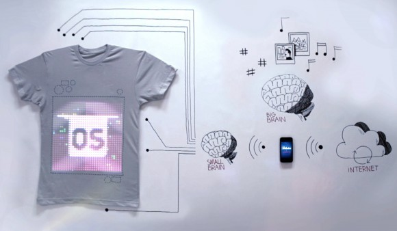 tShirtOS: World's First Programmable T-Shirt with Embedded Display and Camera [VIDEO]