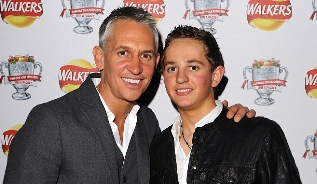 Gary Lineker and son George