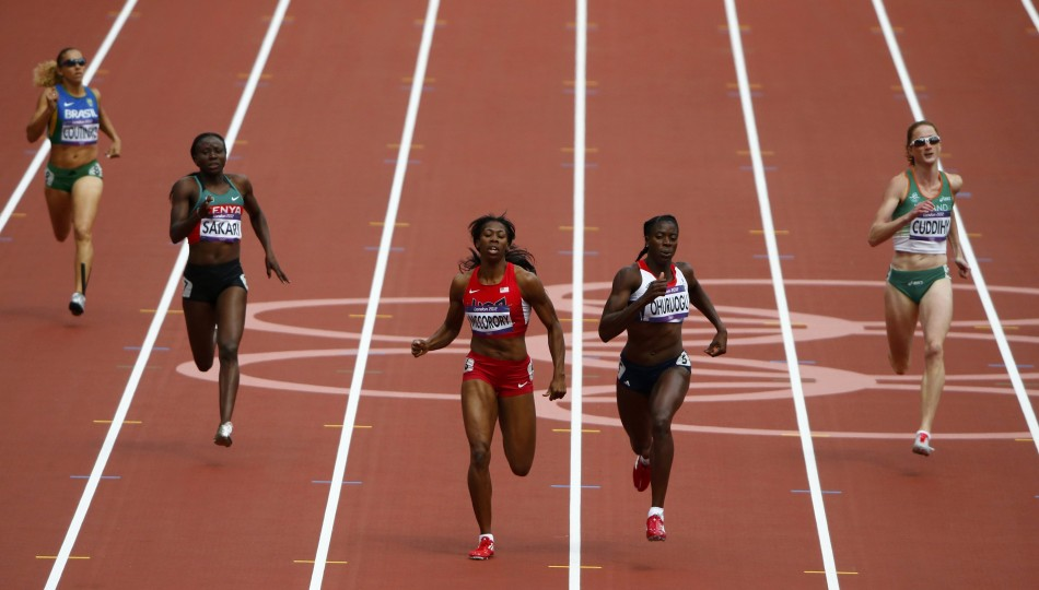 Francena McCorory and Christine Ohuruogu