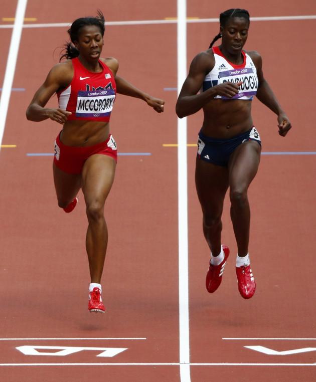 Francena McCorory and Christine Ohuruogu