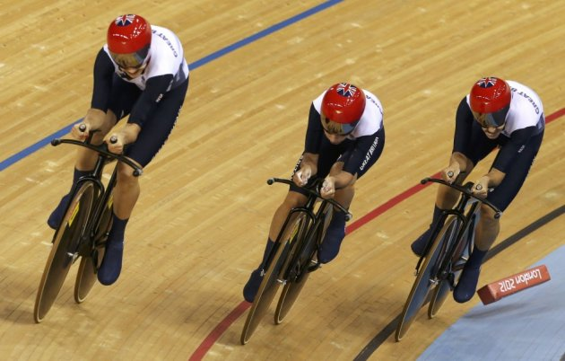 Danielle King, Laura Trott and Joanna Rowsell
